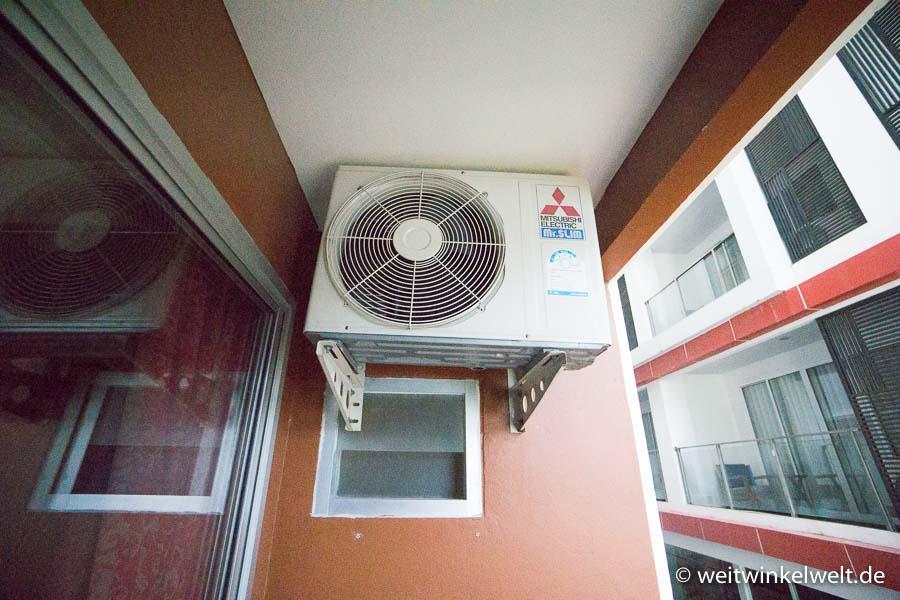 Wand mit Klimaanlage