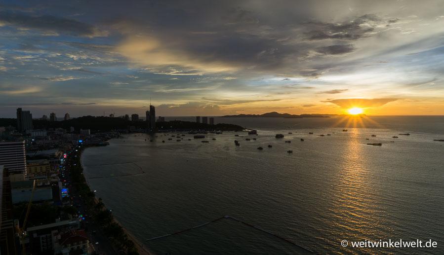 Sonnenuntergang in Thailand