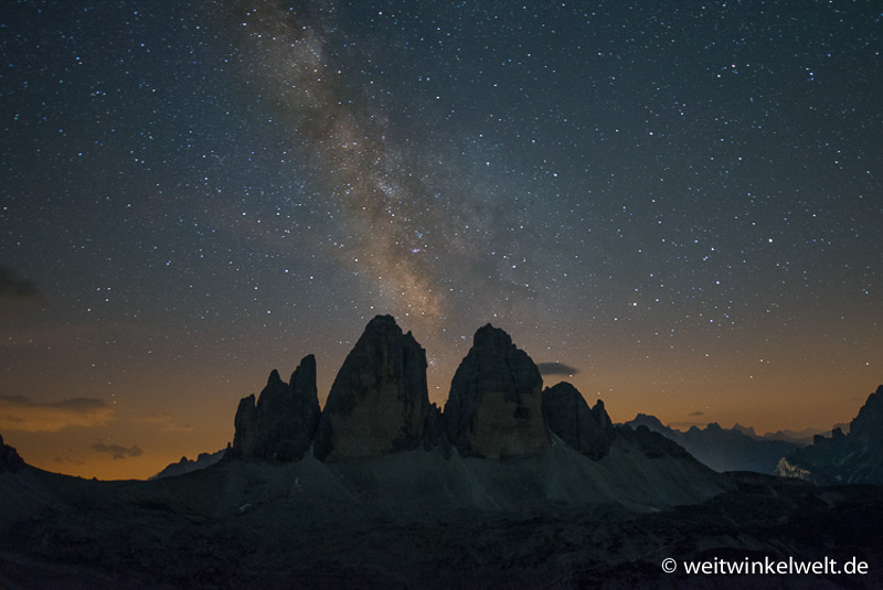 Berge und die Milchstraße