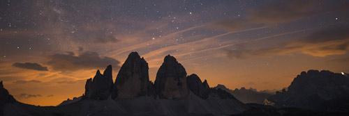 berge in der nacht