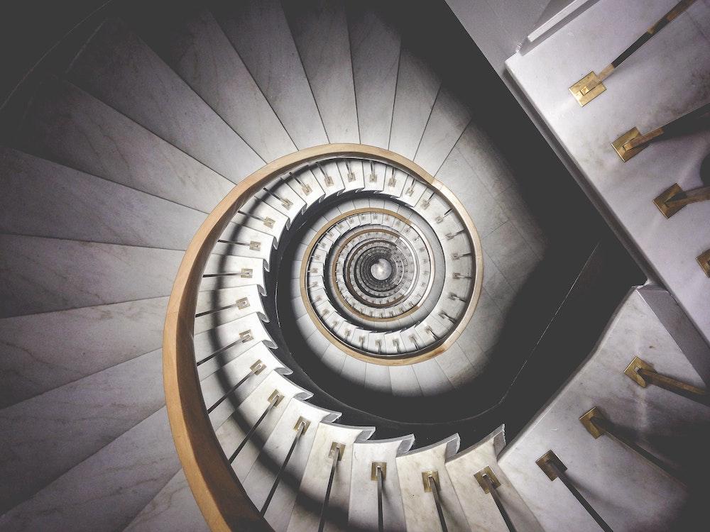 Treppe künstlerisch fotografiert