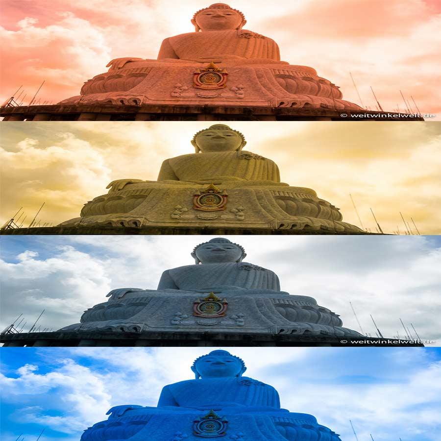 Bilder in unterschiedlicher Farbtemperatur