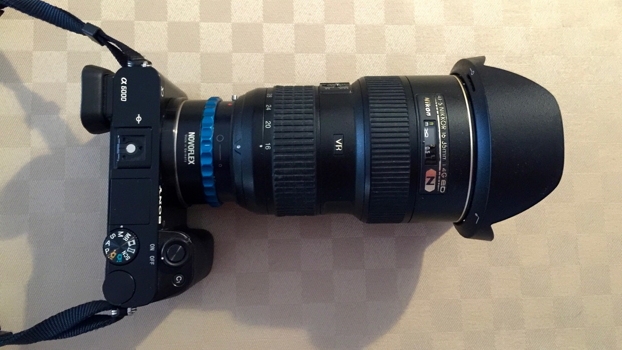 Nikon Objektiv auf Sony Kamera