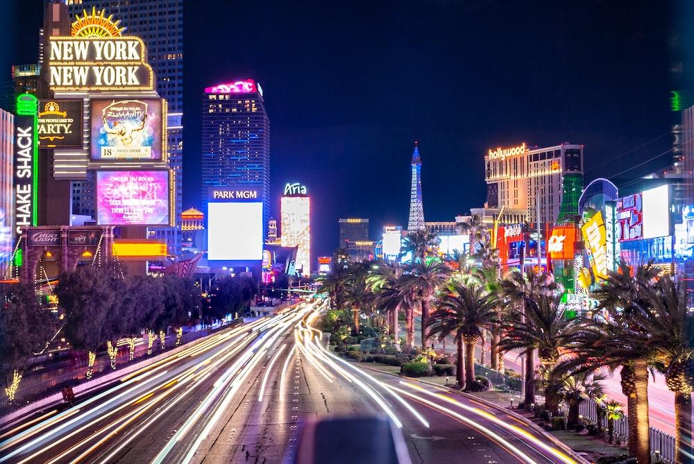 Lichtspuren fotografieren Las Vegas